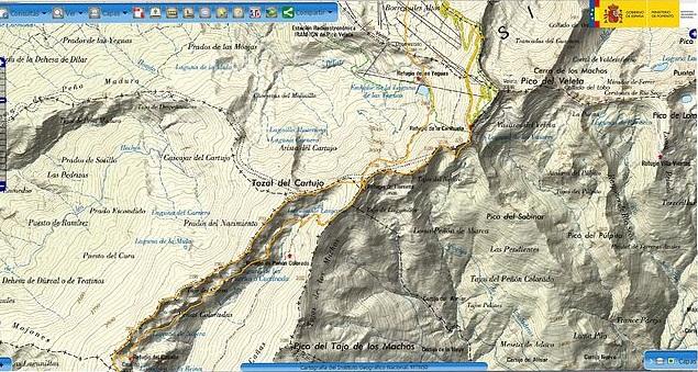 Cerro del Caballo por los Tajos de la Virgen-Verea Cortá y Cuerda Tajos Altos (Sierra Nevada)2
